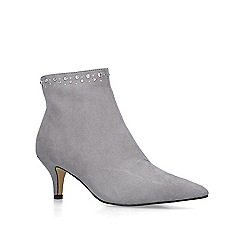 Nine West - Grey 'Carbon' suedette embellished ankle boots