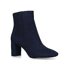 Nine West - Navy 'Xarles' mid heel ankle boots