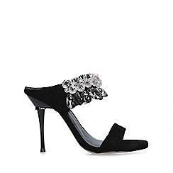 Carvela - Black 'Galactic' backless embellished sandals