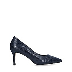 Carvela - Navy 'Kareful' kitten heels court shoes