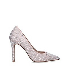 Carvela - Nude 'Lovebird' embellished stiletto heel court shoes