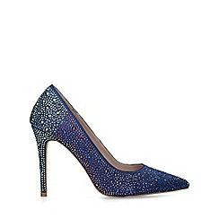 Carvela - Blue 'Lovebird' embellished stiletto heel court shoes