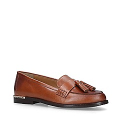 Carvela - Tan 'Mercury' Leather Tassel Loafers