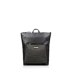 Carvela - Black 'Calypso Zip Top Backpack' croc effect backpack