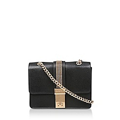 Carvela - Black 'Casey Chain Xbody Bag' Snake Print Cross Body Bag