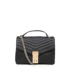 Carvela - Black 'Celina V Quilt X Body Bag' quilted cross body bag