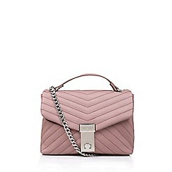 Carvela - Pale 'Celina V Quilt X Body Bag' pink quilted cross body bag