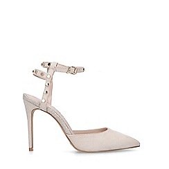 Carvela - Taupe 'Aronite' studded high heel court shoes