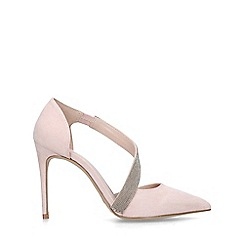 Carvela - Nude 'Artemidis' embellished stiletto heeled court shoes