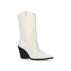 Carvela - Cream 'Sack' leather western calf boots