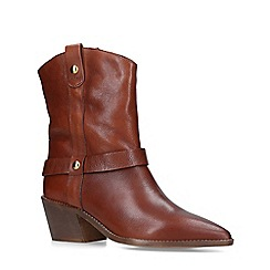 Carvela - Tan 'Sane' Leather Western Calf Boots