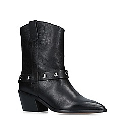 Carvela - Black 'Sage' Leather Western Calf Boots