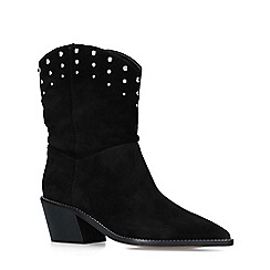 Carvela - Black 'Salt' Embellished Western Calf Boots