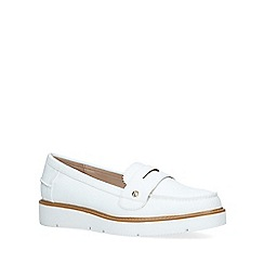 Miss KG - White 'Nieve' Slip On Loafers
