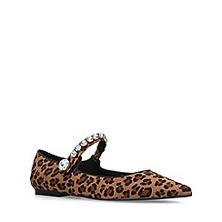 Miss KG - Leopard 'Noa' print embellished flat shoes