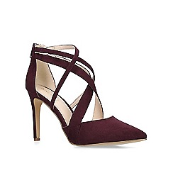 Nine West - Wine 'Zorever' high heel court shoes