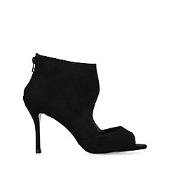 Miss KG - Black 'Peonie' peep toe stiletto heel shoes