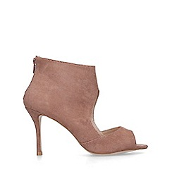 Miss KG - Nude 'Peonie' peep toe stiletto heel shoes