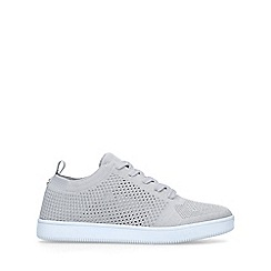Miss KG - Grey 'Kollie' knitted low top trainers