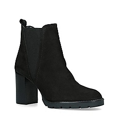ALDO - Black 'Galorevia' Leather Block Heel Ankle Boots
