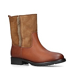 ALDO - Tan 'Onerama' leather calf boots