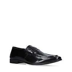 KG Kurt Geiger - Black 'Kirkford' leather slip on loafers