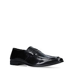 KG Kurt Geiger - Black 'Kirkford' leather slip on loafers