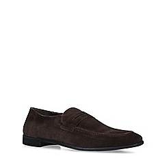 KG Kurt Geiger - Brown 'Kirkford' suede slip on loafers