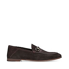KG Kurt Geiger - Brown 'Marcel' Suede Slip On Loafers