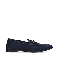 KG Kurt Geiger - Navy 'Marcel' Suede Slip On Loafers