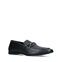 KG Kurt Geiger - Black 'Milton' leather slip on loafers