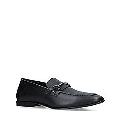 KG Kurt Geiger - Black 'Milton' leather slip on loafers