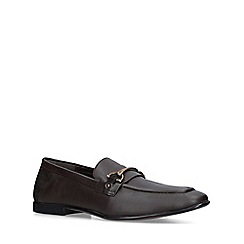 KG Kurt Geiger - Brown 'Milton' leather slip on loafers