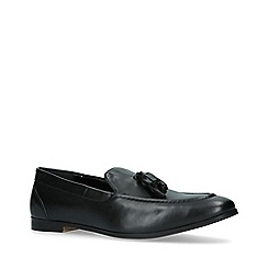KG Kurt Geiger - Black 'Merton' Leather Tassel Loafers