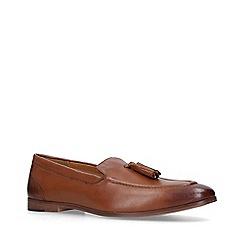 KG Kurt Geiger - Tan 'Merton' Leather Tassel Loafers