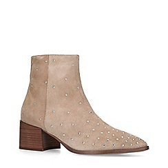 ALDO - Taupe 'Umardolind' Leather Studded Ankle Boots