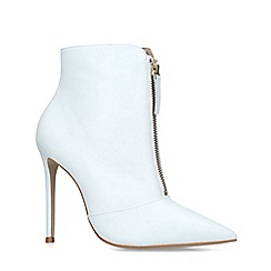 Carvela - White 'Specious' Leather Ankle Boots