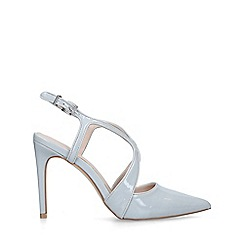 Carvela - Grey 'Kraft' patent stiletto heeled courts