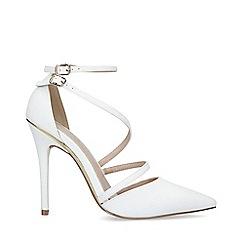 Carvela - White 'Krafty' Stiletto Heel Court shoes