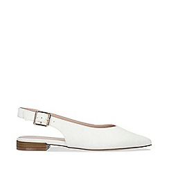 Carvela - White 'Milly' Slingback Flat Sandals