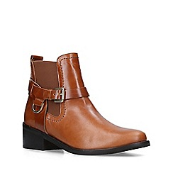 Carvela - Tan 'Saddler' Leather Western Ankle Boots