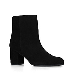 Carvela - Black 'Subtley' Suede Block Heel Ankle Boots