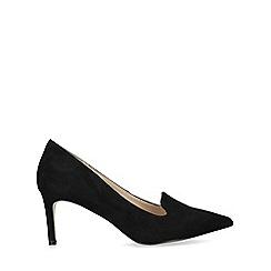 Nine West - Black 'Hayle' Suedette Stiletto Heel Court Shoes