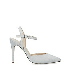 Nine West - Grey 'Jackal' Suedette Stiletto Heel Court Shoes