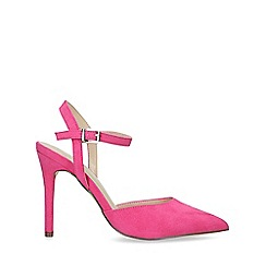 Nine West - Pink 'Jackal' Suedette Stiletto Heel Court Shoes
