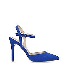 Nine West - Blue 'Jackal' Suedette Stiletto Heel Court Shoes