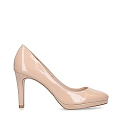 Miss KG - Nude 'Carmel Wf' Mid Heel Court Shoes
