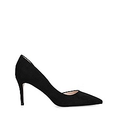 Miss KG - Black 'Celia Wf' Mid Heel Court Shoes