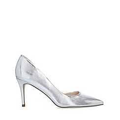 Miss KG - Silver 'Celia Wf' Mid Heel Court Shoes