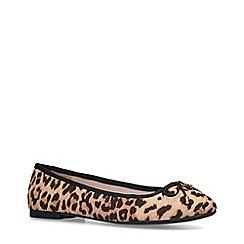 Miss KG - Leopard 'Nelson' Print Ballerina Pumps